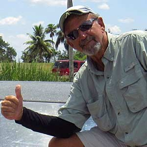 "Mike Reinhardt ""Capt. Lee"" - Airboat Tour Captain at Everglades Holiday Park"