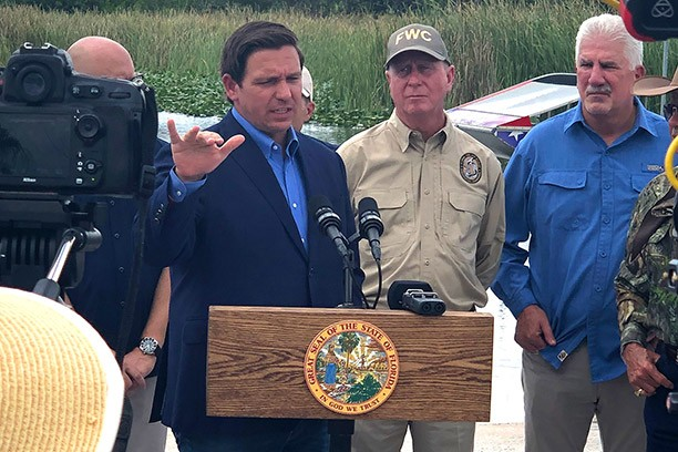 Governor DeSantis python speech at Everglades Holiday Park