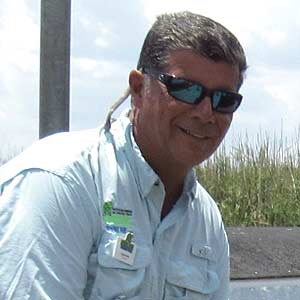 "Mike Angelastri ""Indian Mike"" - Airboat Tour Captain at Everglades Holiday Park"