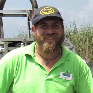 "Nile Charles ""Capt. Nile"" - Airboat Tour Captain at Everglades Holiday Park"