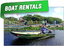 Everglades Fishing Boat Rentals | Everglades Gator Shows | Everglades Airboat Tours
