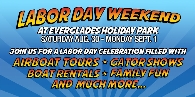 Everglades Airboat Tours | Everglades Holiday Park Airboat Tours